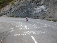 On the 21 hairpin bends, Alpe d'Huez